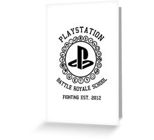 Playstation Battle Royale School (Black) Greeting Card