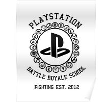Playstation Battle Royale School (Black) Poster