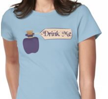 Alice in Wonderland Drink Me Bottle - Whimsical T Shirt Womens Fitted T-Shirt