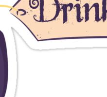 Alice in Wonderland Drink Me Bottle - Whimsical T Shirt Sticker