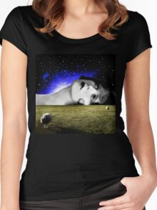 Counting Sheep Women's Fitted Scoop T-Shirt