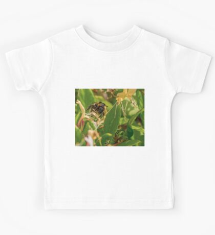 Yet Another Bumble Bee on the Honeysuckle Kids Tee
