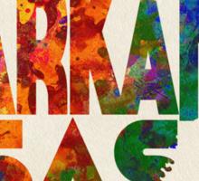 Arkansas Typographic Watercolor Map Sticker