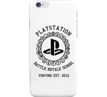 Playstation Battle Royale School (Black) iPhone Case/Skin