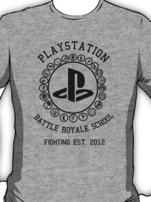 Playstation Battle Royale School (Black) T-Shirt