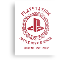 Playstation Battle Royale School (Red) Metal Print