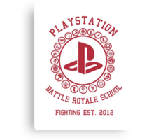Playstation Battle Royale School (Red) Canvas Print
