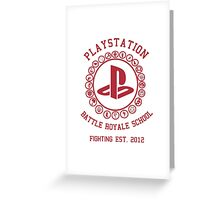 Playstation Battle Royale School (Red) Greeting Card