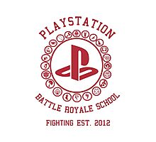 Playstation Battle Royale School (Red) Photographic Print