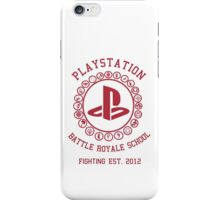 Playstation Battle Royale School (Red) iPhone Case/Skin