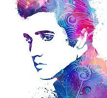 Elvis Presley by Watercolorsart
