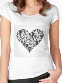 Bulb heart Women's Fitted Scoop T-Shirt