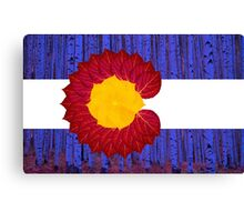 aspen tree Colorado flag Canvas Print