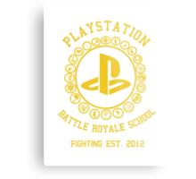 Playstation Battle Royale School (Yellow) Metal Print