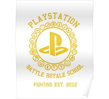 Playstation Battle Royale School (Yellow) Poster