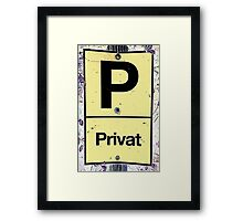 Private place - street photo, cologne, germany Framed Print
