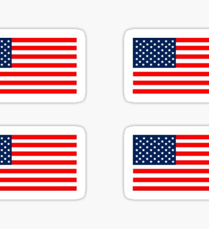 Flag of the United States of America 4 pack Sticker