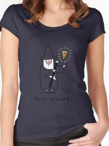 The Wizzard of Pizza Women's Fitted Scoop T-Shirt