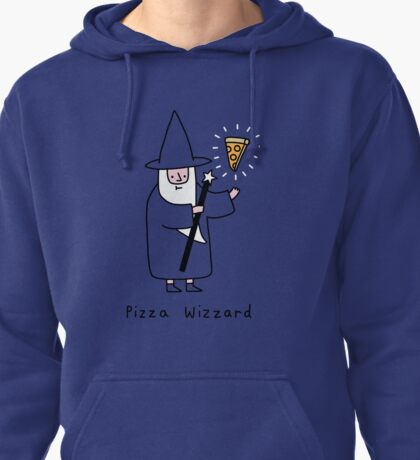 The Wizzard of Pizza Pullover Hoodie