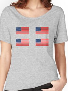 Flag of the United States of America 4 pack Women's Relaxed Fit T-Shirt