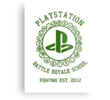 Playstation Battle Royale School (Green) Metal Print
