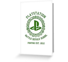 Playstation Battle Royale School (Green) Greeting Card