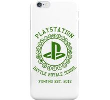 Playstation Battle Royale School (Green) iPhone Case/Skin