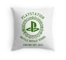 Playstation Battle Royale School (Green) Throw Pillow