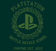 Playstation Battle Royale School (Green) T-Shirt
