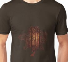 Owl and Autumn Forest Landscape Unisex T-Shirt