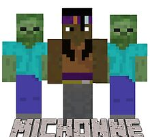 Minecraft Michonne by Annabel Braithwaite