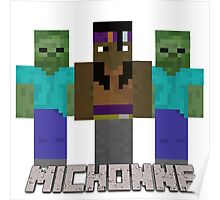 Minecraft Michonne Poster