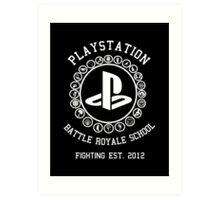 Playstation Battle Royale School (White) Art Print