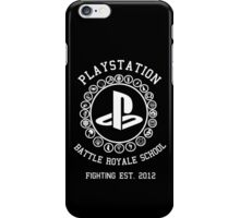 Playstation Battle Royale School (White) iPhone Case/Skin