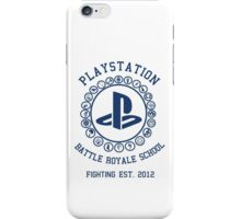 Playstation Battle Royale School (Blue) iPhone Case/Skin