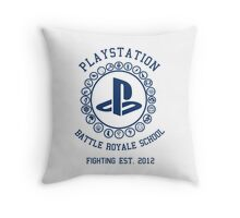 Playstation Battle Royale School (Blue) Throw Pillow