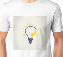 Hand a bulb Unisex T-Shirt