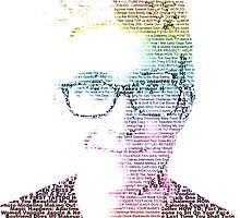Tyler Oakley Words Rainbow Version by lolasatsuma