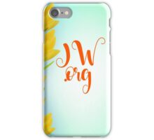 JW.org yellow and green 1 iPhone Case/Skin