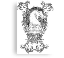 Vintage design with Horse on Crown Canvas Print