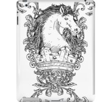 Vintage design with Horse on Crown iPad Case/Skin