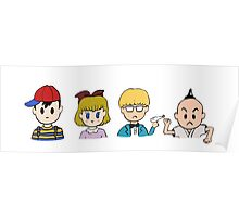 Earthbound's 4 Heroes Poster