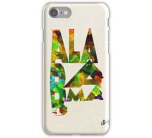 Alabama Typographic Watercolor Map iPhone Case/Skin