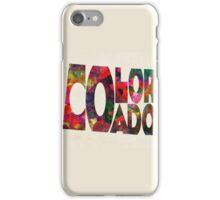Colorado Typographic Watercolor Map iPhone Case/Skin