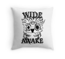 Wide Awake Owl Throw Pillow