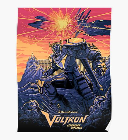 Blue Voltron Poster