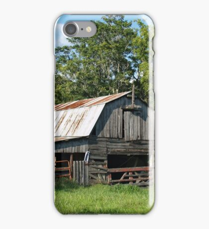 A Little Barn In Arkansas iPhone Case/Skin