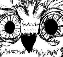 Wide Awake Owl Sticker