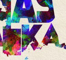 Alaska Typographic Watercolor Map Sticker
