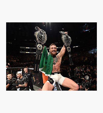 Conor McGregor 2 Belt Champ Photographic Print